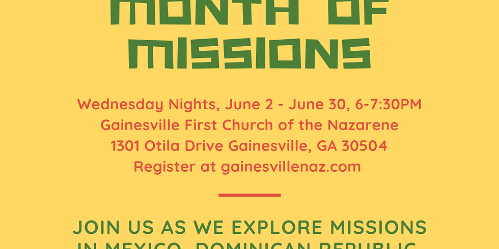 GCK Month of Missions