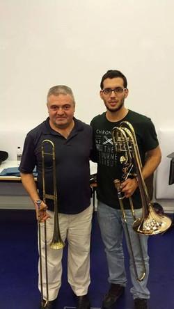 with Daniel Lassalle (baroque trombone)