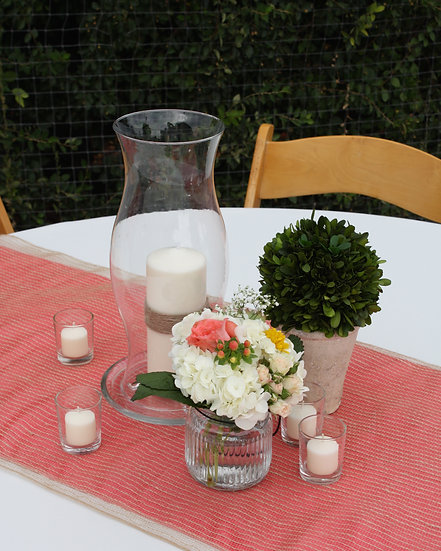 Table Arrangement and Boxwood Ball