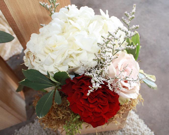 Roses and Hydrangea Arrangement