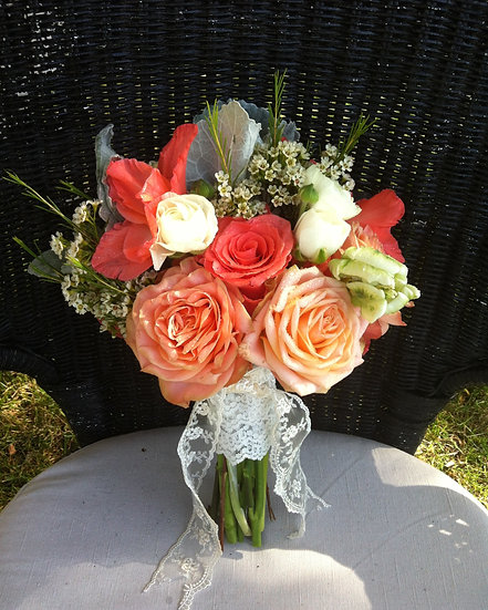 Dark and Light Orange Bouquet