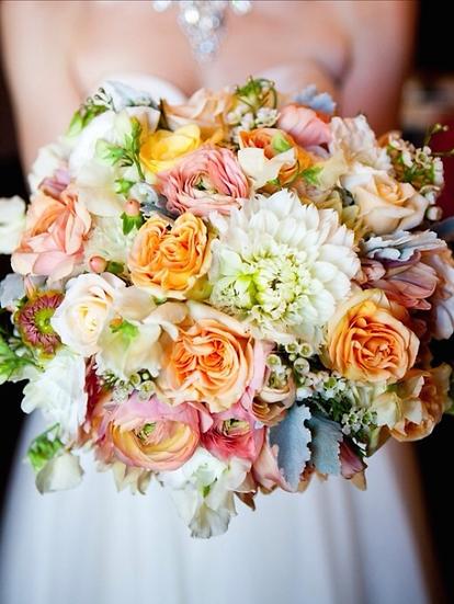 Spring Colors Bride Bouquet