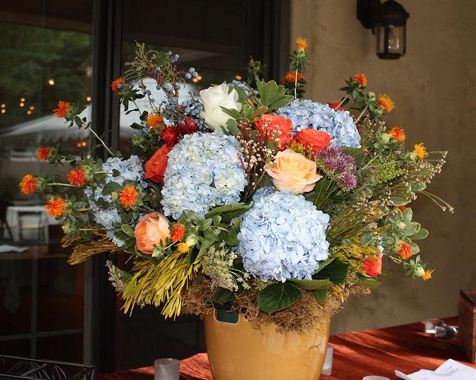 Hydrangea and Rose Large Banquet Arrangement