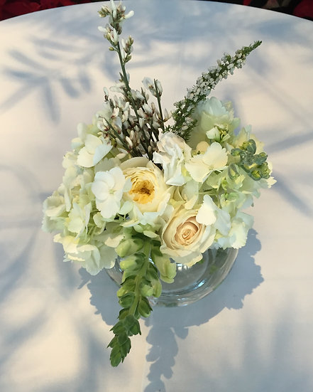 White Rose and xxxxx Small Table Bouquet