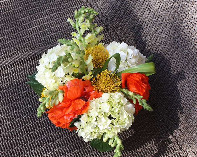Hydrangea and Poppy Arrangement