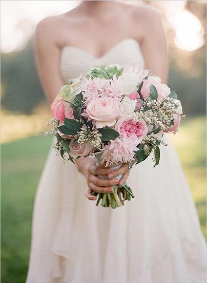 Pink Garden Rose Bouquet