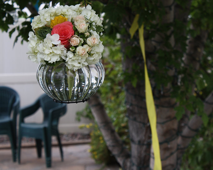 Hanging Glass Vase Arrangement