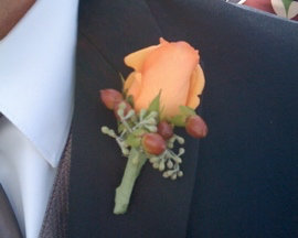 Orange Rose and Berries