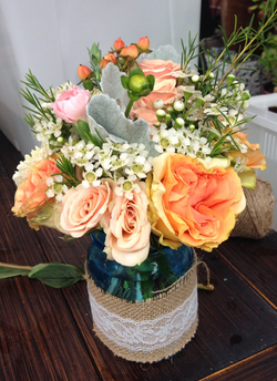 Salmon Roses and Garden Roses.png