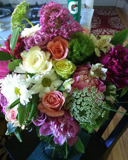 Pinks, Purples, Whites Arrangement