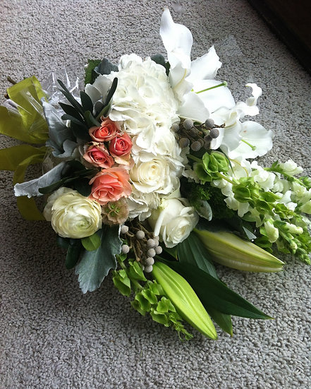 Salmon and White Bouquet