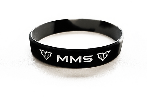 MMS Black/Grey Swirl Wristbands