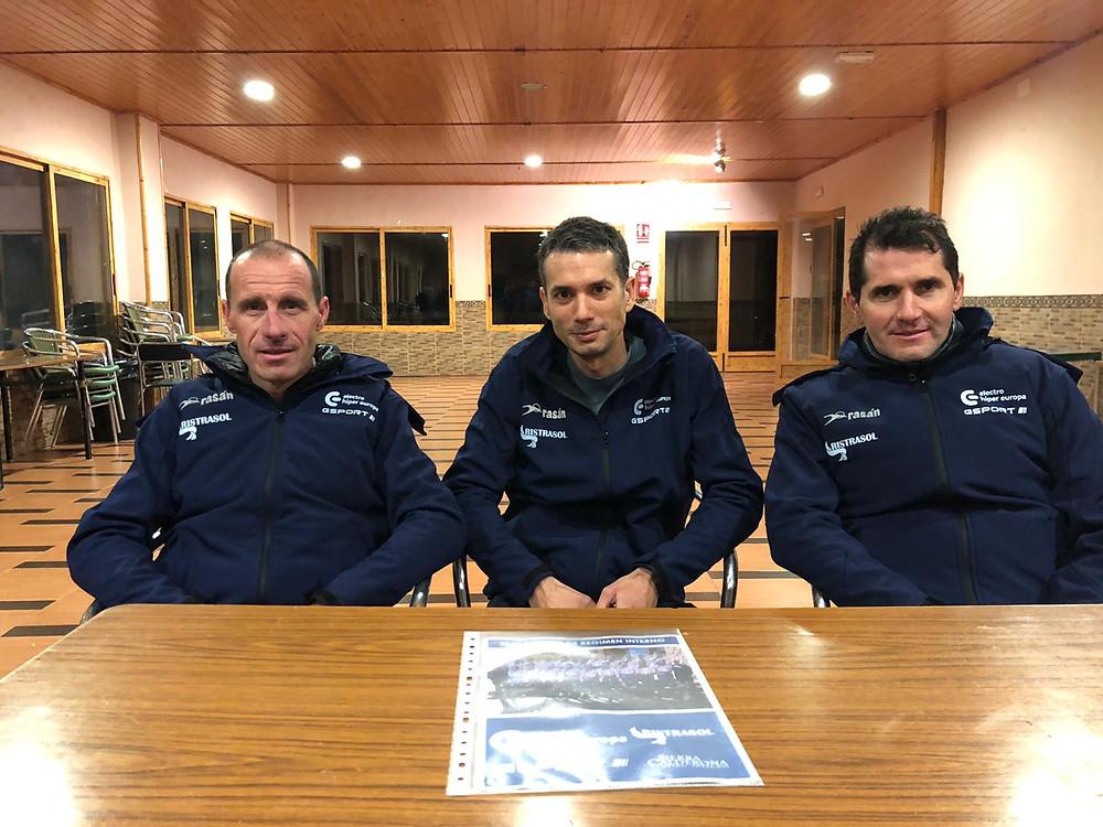 Antonio Moreno, junto a José Saez y Rafa Casero, Directores Deportivos