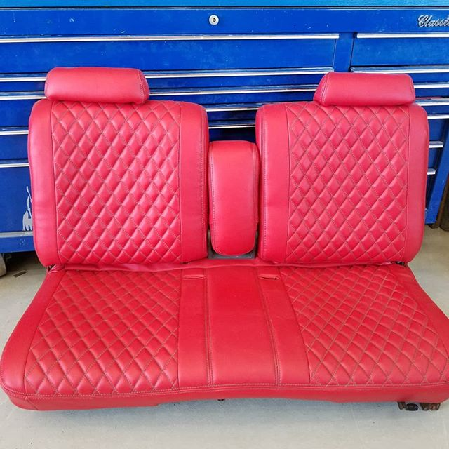 Torch red with gray stitching for a #gbody #cuttlass._Stay put for the final project pictures.jpg