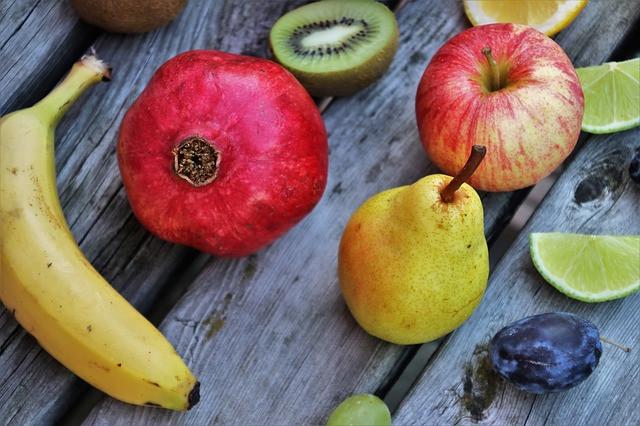 fruit apple pear banana pomegranate