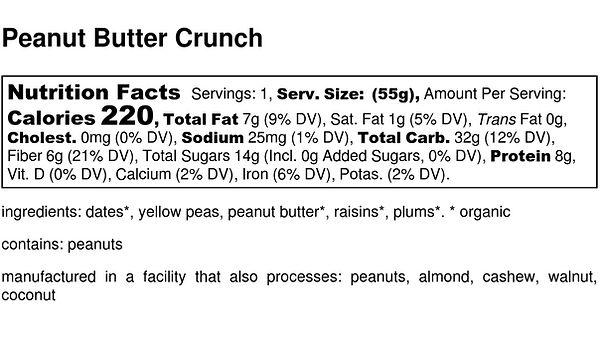 Peanut Butter Crunch - Nutrition Label.j
