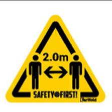 Waarschuwingssticker - 2m afstand
