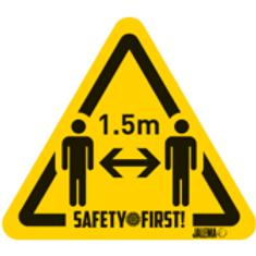 Waarschuwingssticker - 1,5m afstand