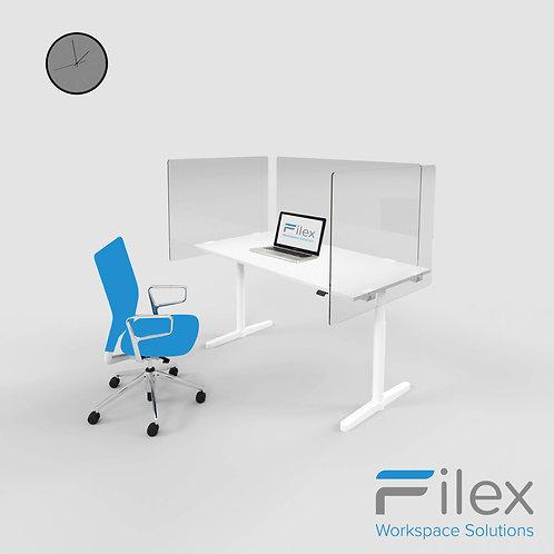 Filex Plexi Bureauwand 160x80