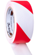 Rood-witte safety tape rol