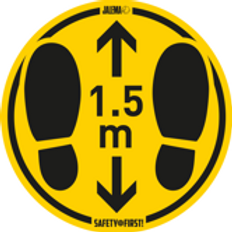 Waarschuwingssticker Vloer (Ruw) - 1,5m afstand