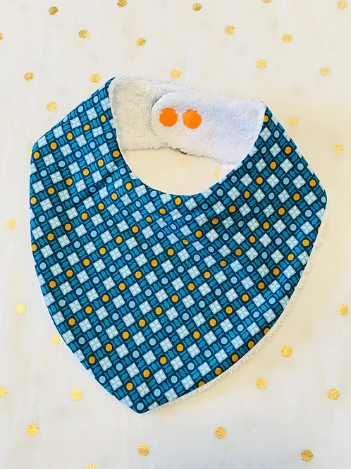 Bavoir bandana graphic bleu