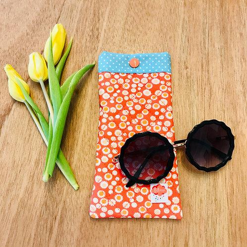 Etui à lunettes Bohème tangerine