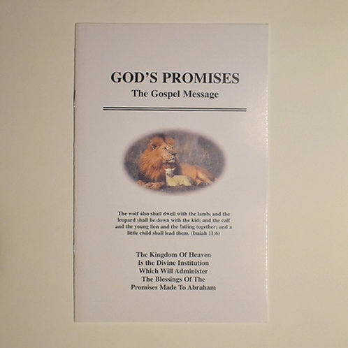 God's Promises – The Gospel Message