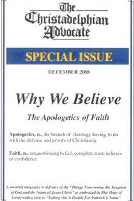 Why We Believe: The Apologetics of Faith