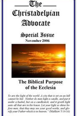 The Biblical Purpose of the Ecclesia