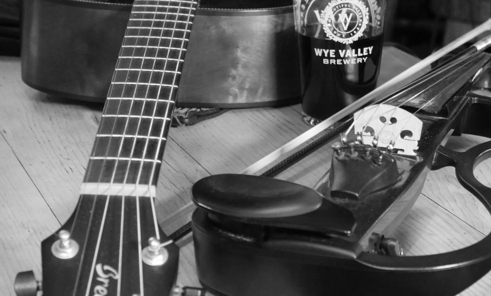 Guitar, beer, fiddle