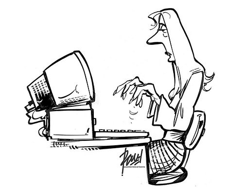 Woman Computer Operator