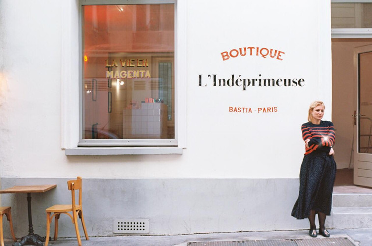 La boutique de L'Indéprimeuse, 7 rue de Calais, Paris 9