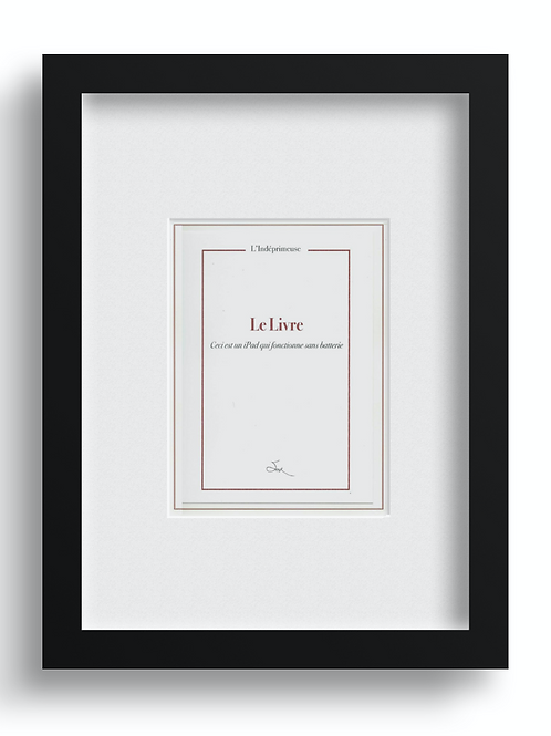 Le Livre (Ceci est un iPad)