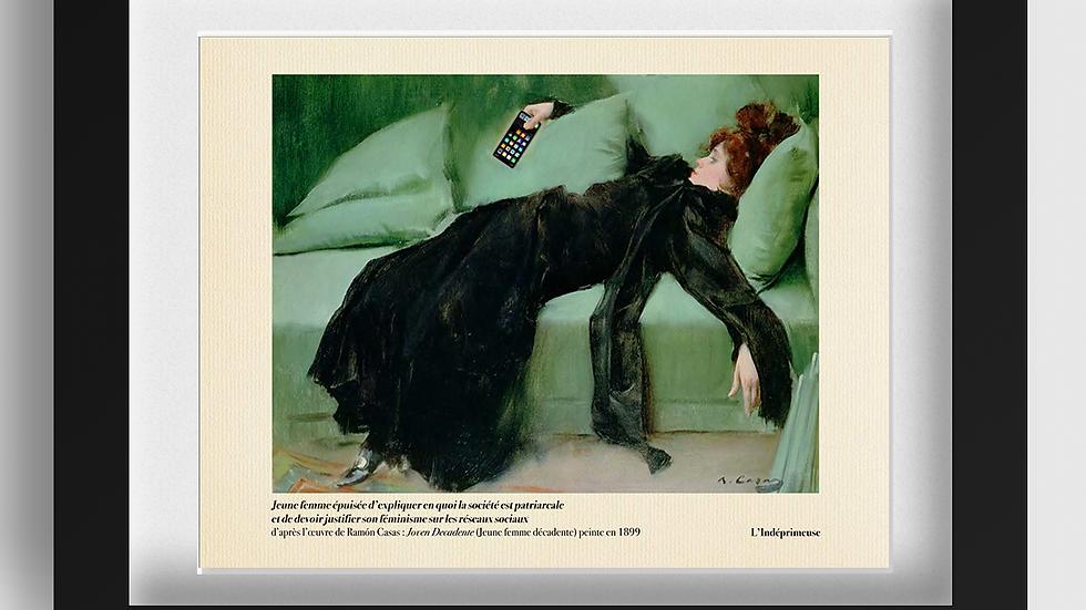 Jeune femme épuisée