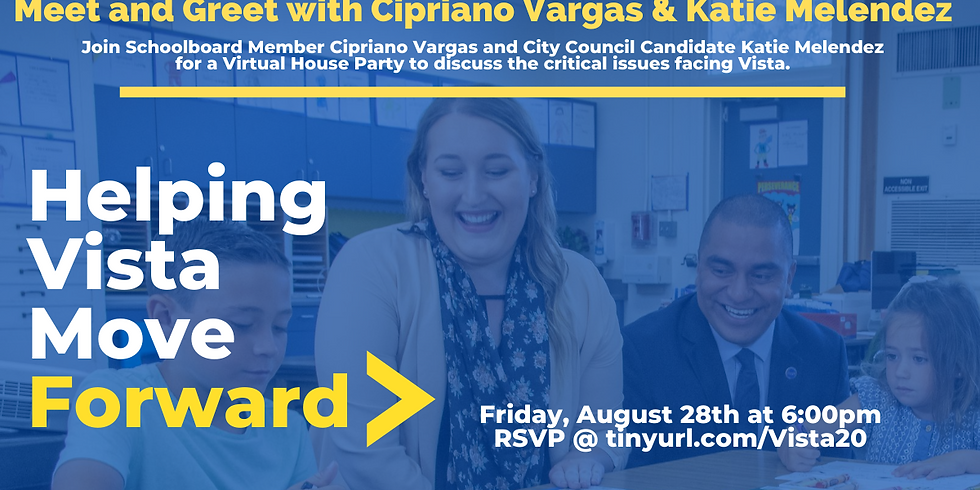 Meet and Greet with Cipriano Vargas and Katie Melendez