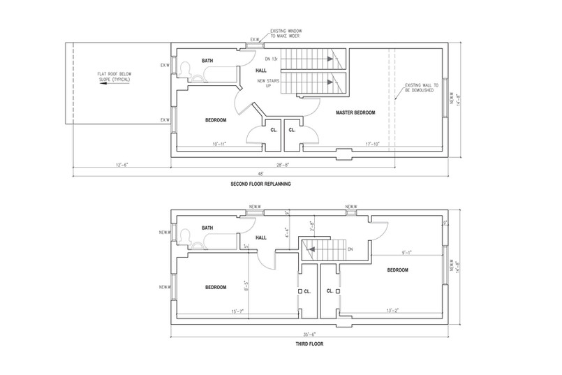 Re-planning of 2nd floor + new 3rd floor