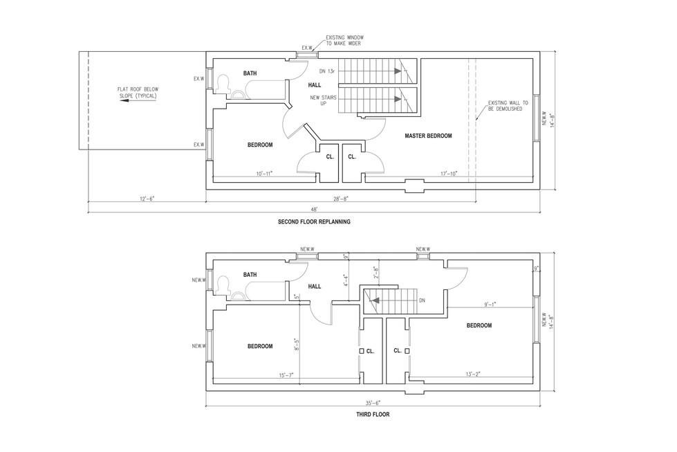Re-planning of 2nd floor + new 3rd floor