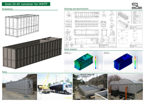 Profil-Steel 20-40 'container for WWTP.j