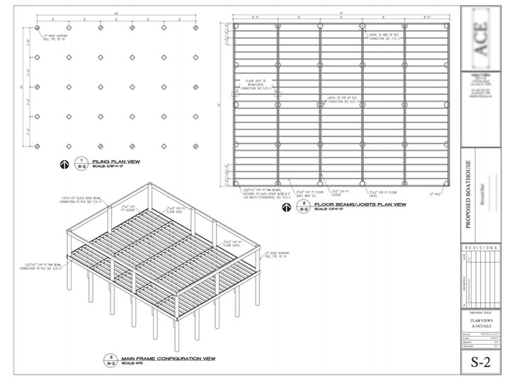 Wood frame design (for Boathouse)