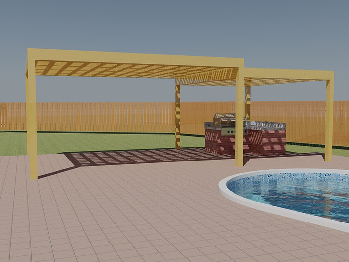 Outdoor kitchen 3D design