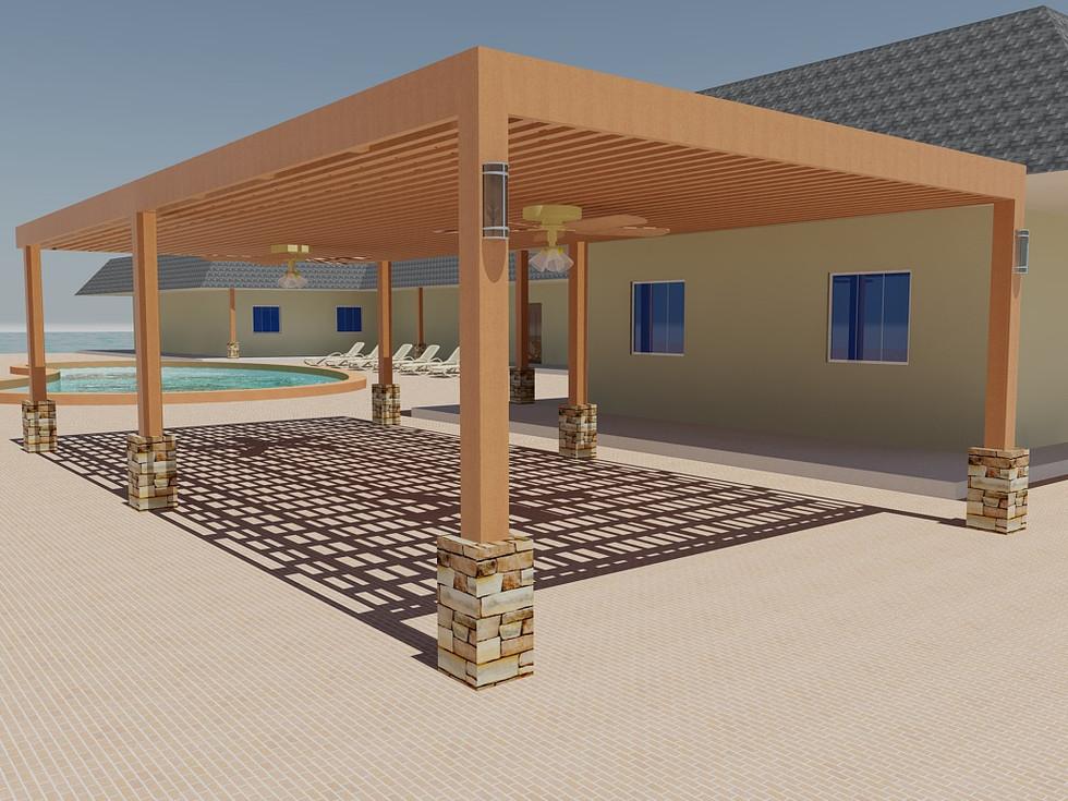 Pergola design for Yacht Club