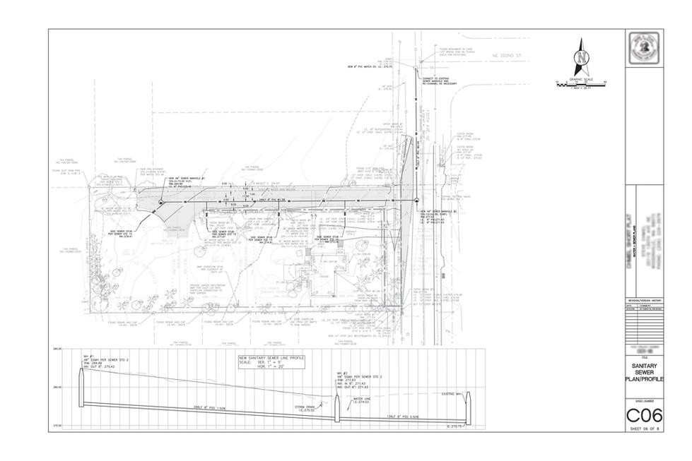 Utilities plan (water + sewer)