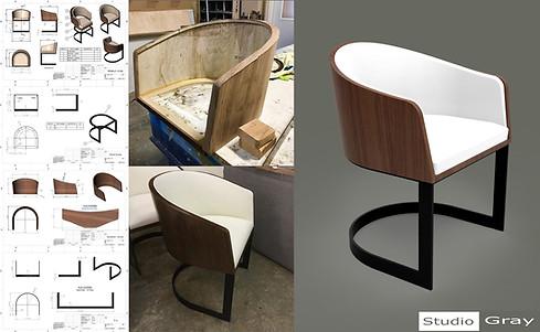 Walnut chair