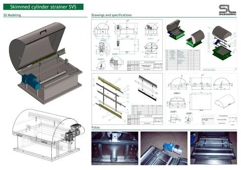 Portfolio-Skimmed cylinder strainer SVS.