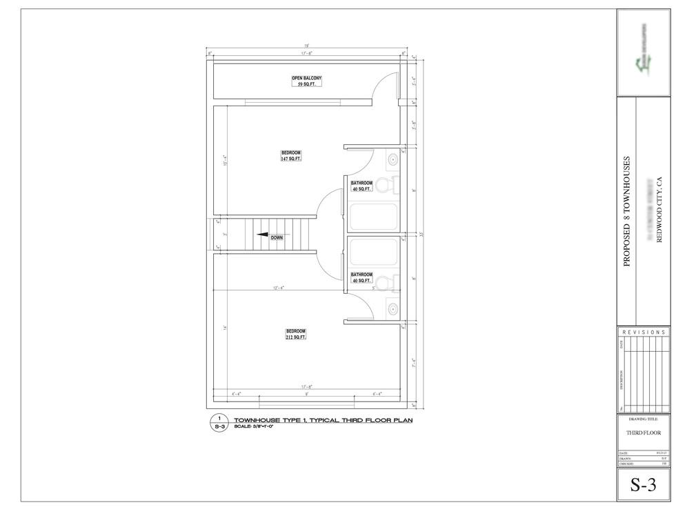 Townhouse floor plan design-2