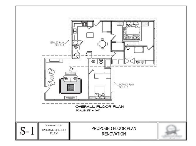 House renovation, overall floor plan