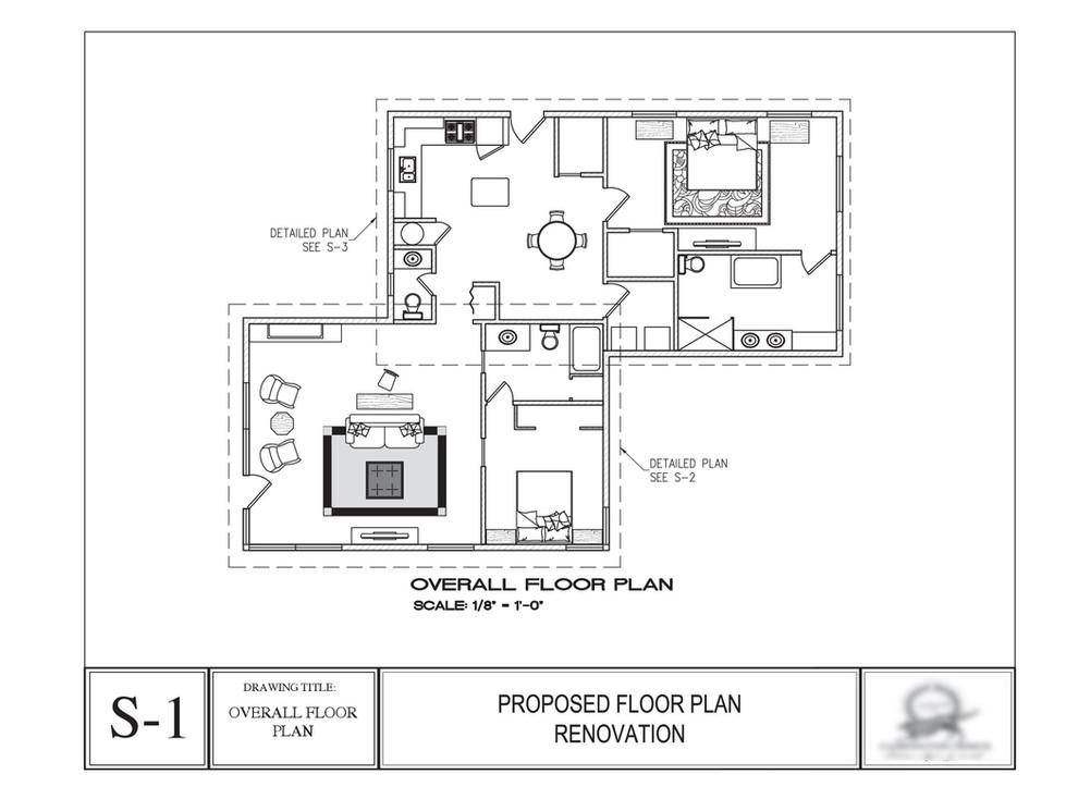 House renovation, overall floor plan