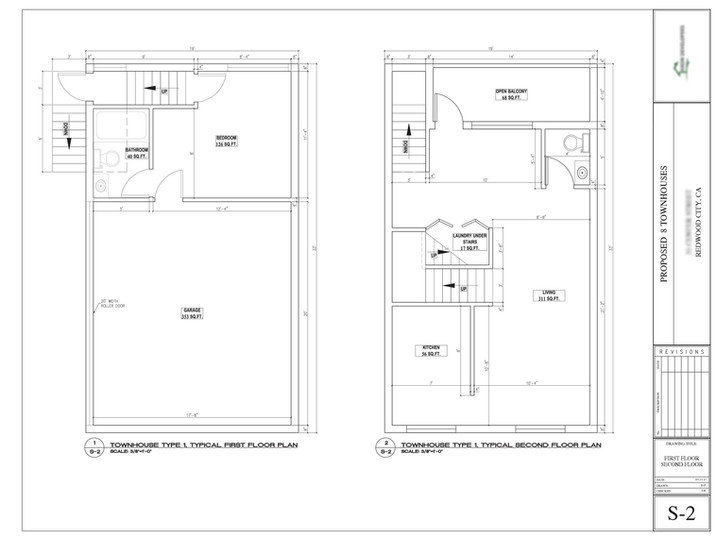Townhouse floor plan design