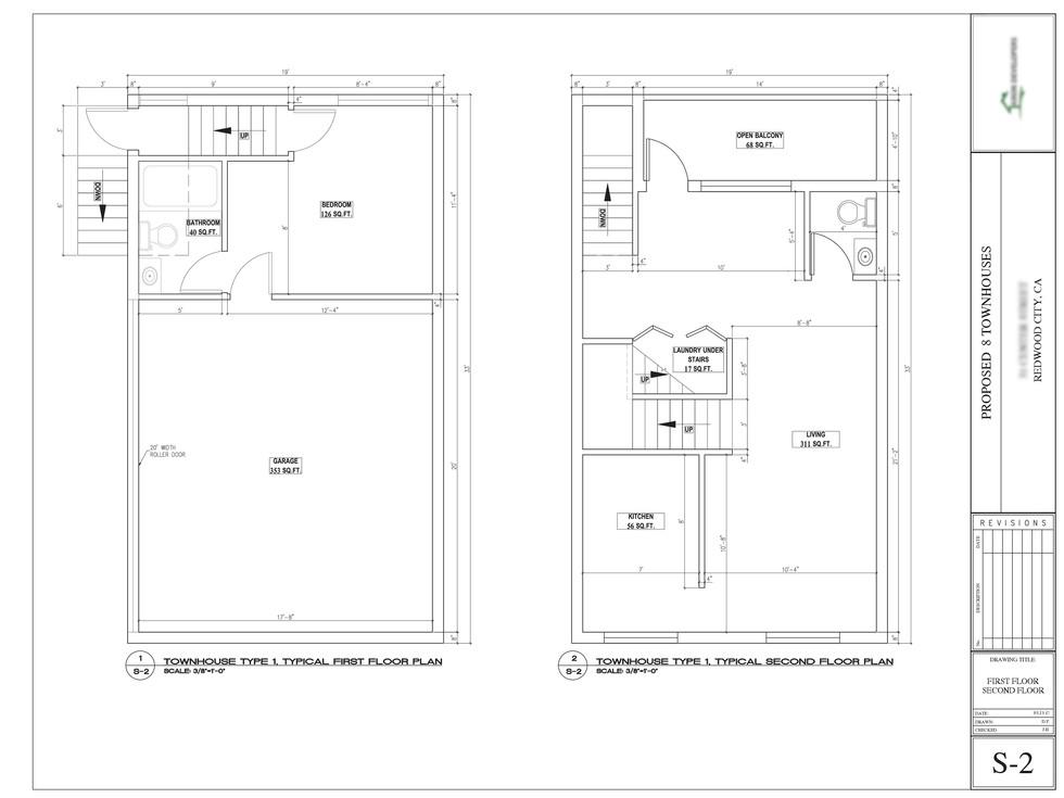 Townhouse floor plan design